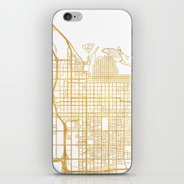 SALT LAKE CITY UTAH CITY STREET MAP ART iPhone Skin
