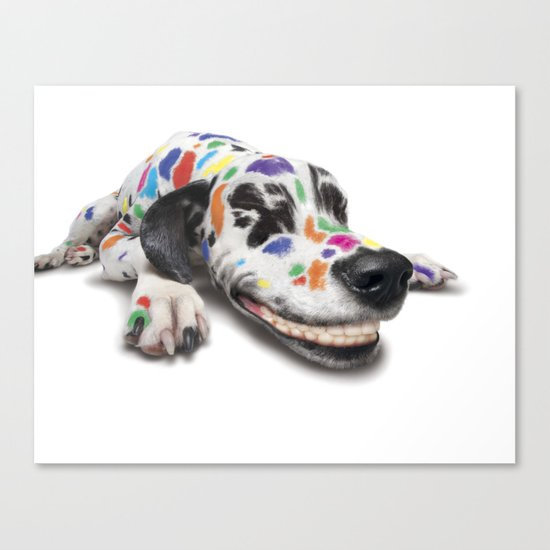 Spotted dog Canvas Print