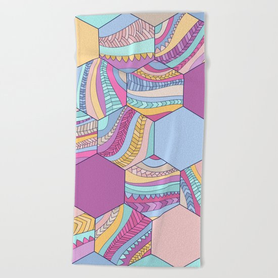 BRAIDSHEXSUMMER Beach Towel