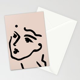 Lady Face Stationery Cards