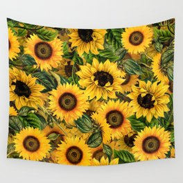 Vintage & Shabby Chic - Noon Sunflowers Garden Wall Tapestry