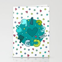 numbers Stationery Cards featuring Numbers by Bea Blanco