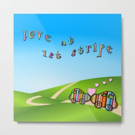 love at first stripe Metal Print