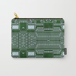 Computer Geek Circuit Board Pattern Carry-All Pouch