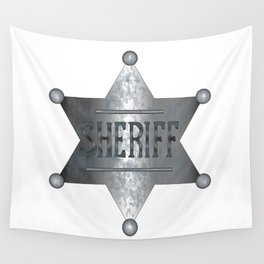 Sheriff Badge Wall Tapestry