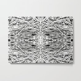 Blak and white Metal Print