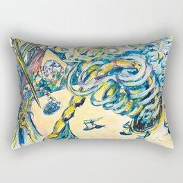 X voYages de Zed (toile 16 - série 1) Rectangular Pillow