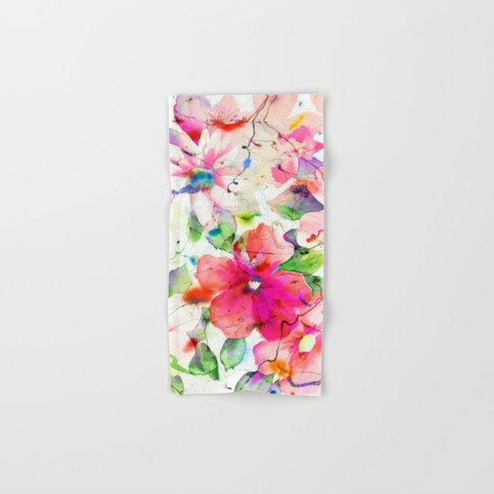 joyful flowers Hand & Bath Towel