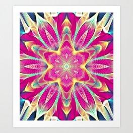 Flower Of Life Mandala (Pink Passion) Art Print