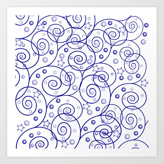 Abstract pattern. Art Print