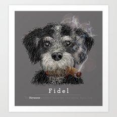 Fidel - The Havanese is the national dog of Cuba Art Print
