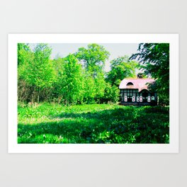 Cottage in Spring Art Print