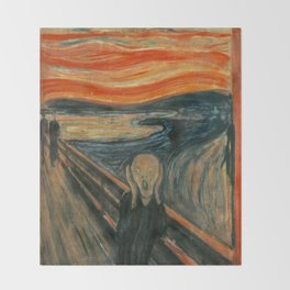The Scream - Edvard Munch Throw Blanket