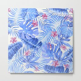 Palm Leaves Pattern 11 Metal Print