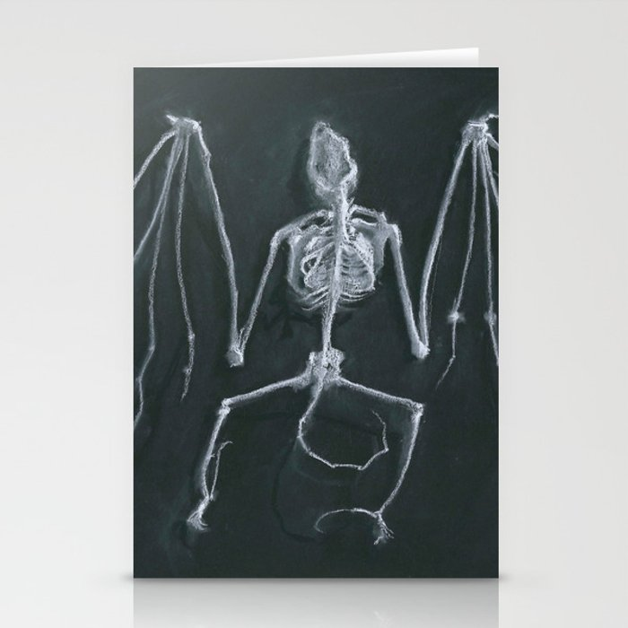 Bat Skeleton Stationery Cards