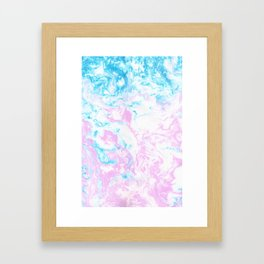 Marbling Framed Art Print