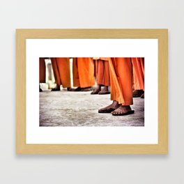 Thai Monks (1998) Framed Art Print