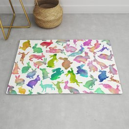 Watercolour Bunnies Rug