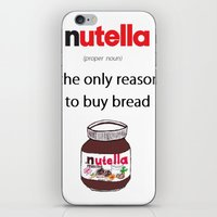 nutella iPhone & iPod Skins featuring Nutella -only reason by Lyre Aloise