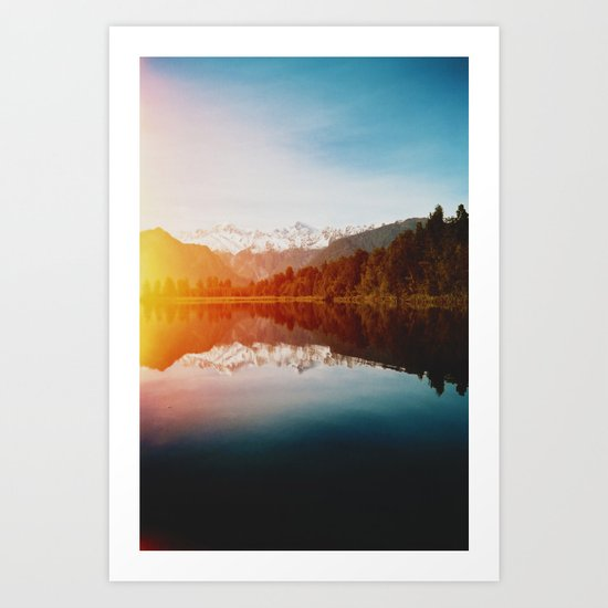 Lake Matheson Art Print