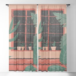 Urban jungle Sheer Curtain