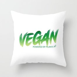 Vegan - Powered by plants Throw Pillow