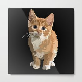 Kitten Cute Metal Print