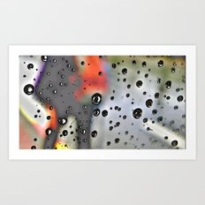 Pearly dew drops drop Art Print