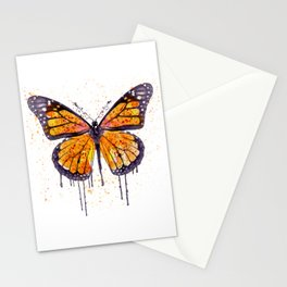 Monarch Butterfly watercolor Stationery Cards