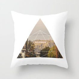 Hollywood Sign - Geometric Photography Throw Pillow