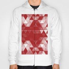 pattern red Hoody