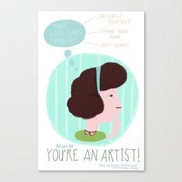 Make Something Everyday Part Three Canvas Print