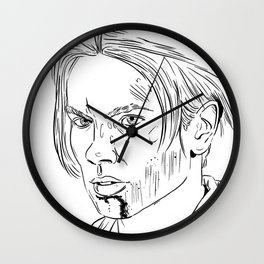 Young Indy Wall Clock
