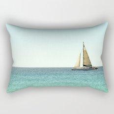 Sail Away with Me - Ocean, Sea, Blue Sky and Summer Sun Rectangular Pillow