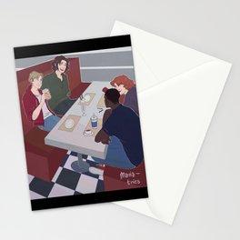 stucky + nat + sam diner scene Stationery Cards