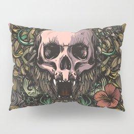 Skull in jungle Pillow Sham
