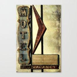 Vintage Arrow Motel Sign Canvas Print