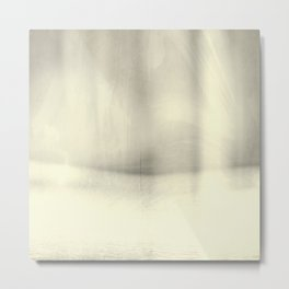 Modern Abstract Landscape, Silver, Muted Tones, Monochromatic, Minimalist, Photography, Pastel Metal Print