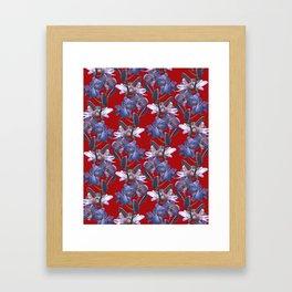 Orchids in Wine Framed Art Print