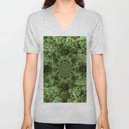 SEA FOAM FROTHY BLUE-GREEN SUCCULENTS Unisex V-Neck
