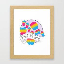 Pan Pride Flowers Framed Art Print