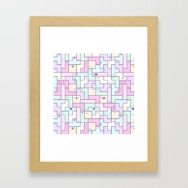 Kawaii Tetris Framed Art Print