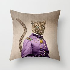 Grand Viceroy Leopold Leopard Throw Pillow