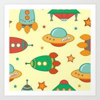 outer space Art Prints featuring Outer space by olillia