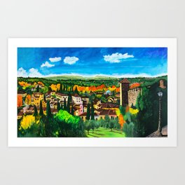 View from Boboli Art Print