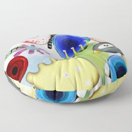 Un placer coincidir en esta vida Floor Pillow