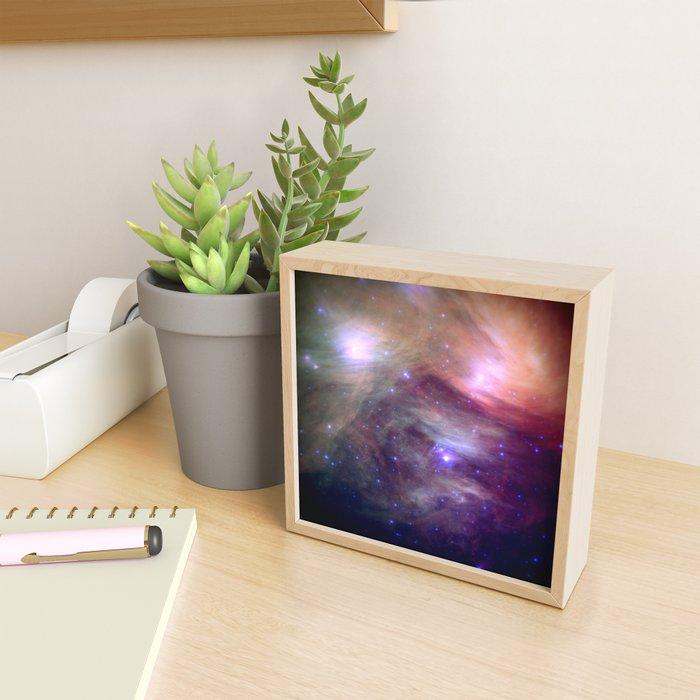 Galaxy : Pleiades Star Cluster NeBula Framed Mini Art Print