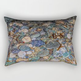 Merlin's cave pebbles Rectangular Pillow
