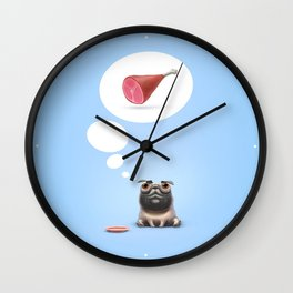 Dream (Concept funny illustration) Wall Clock