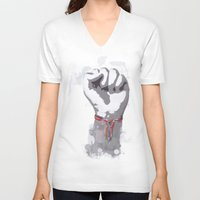 power V-neck T-shirts featuring Power by Isaak_Rodriguez